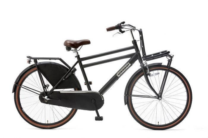 Popal Daily Dutch Basic 26 inch jongensfiets 26inch transportfiets mat-zwart