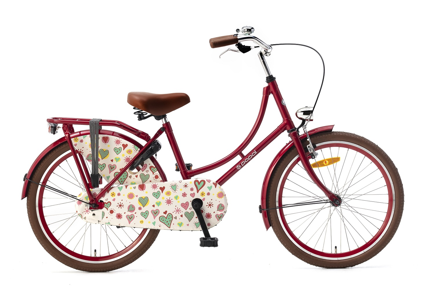 Popal Omafiets 22 inch rood