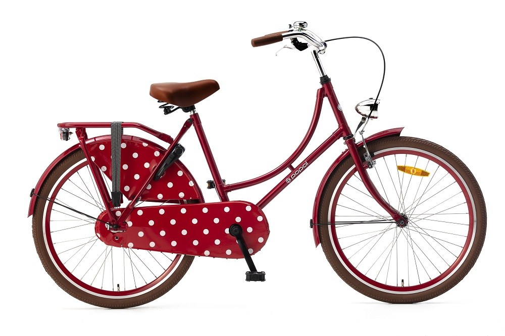 Popal Omafiets 24 inch rood