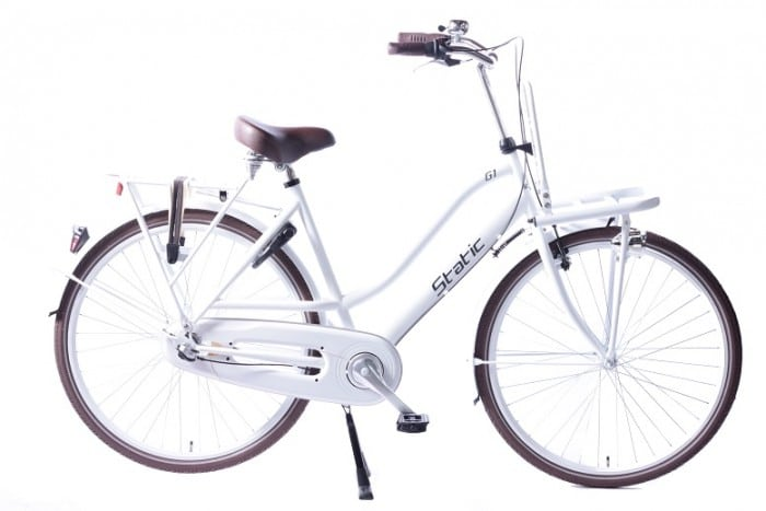 Static Glamour 28 inch dames transportfiets Wit