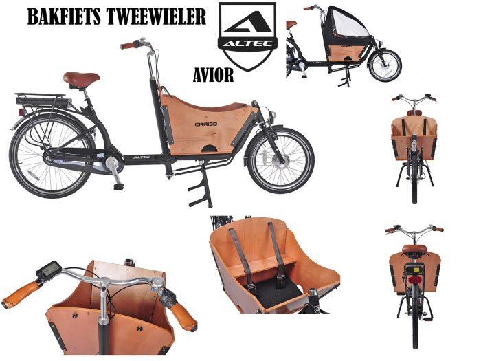 Altec bakfiets Avoir Elektrisch tweewieler bakfiets 375 Wh