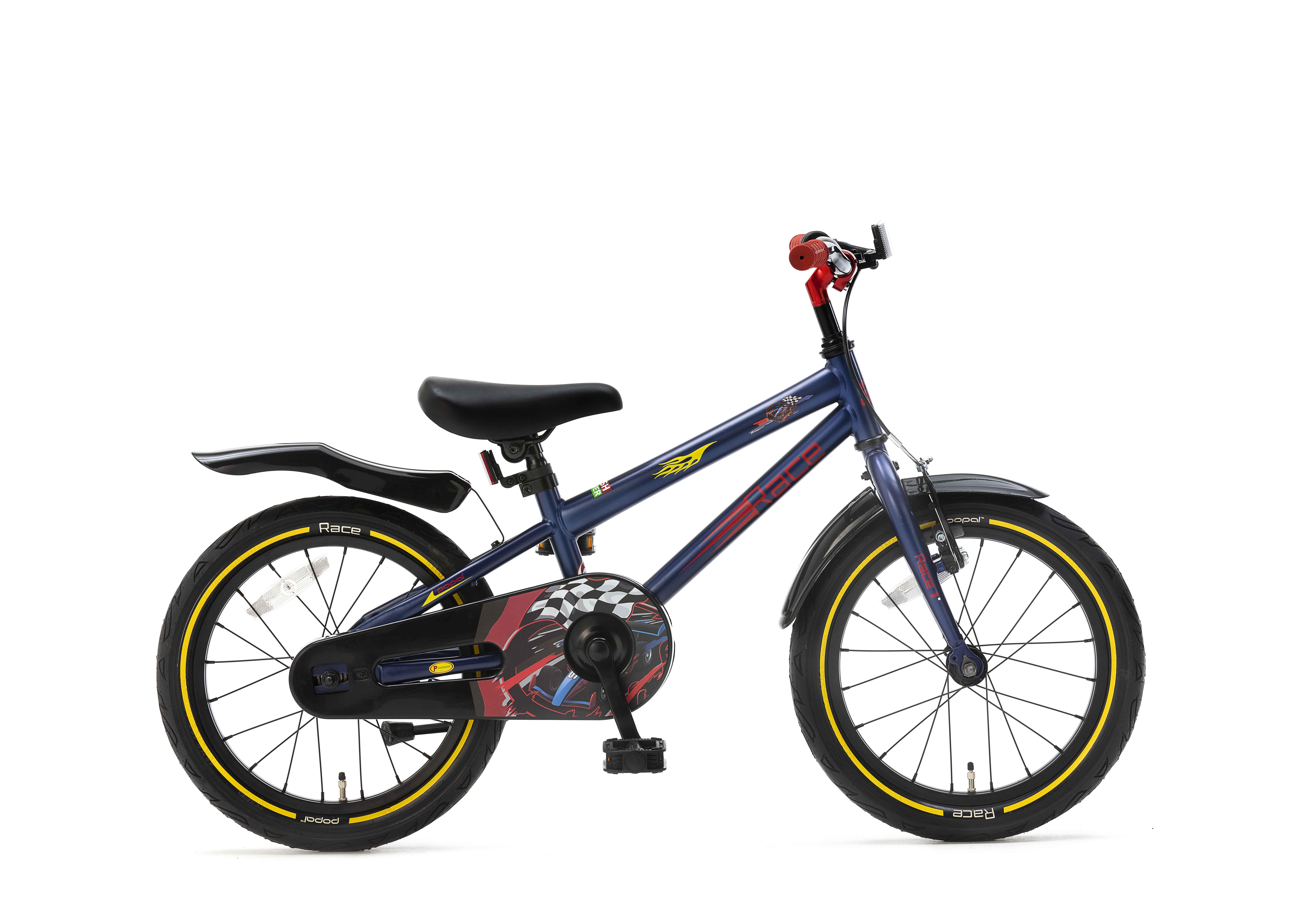 Popal Race Jongens fiets 16inch Blauw
