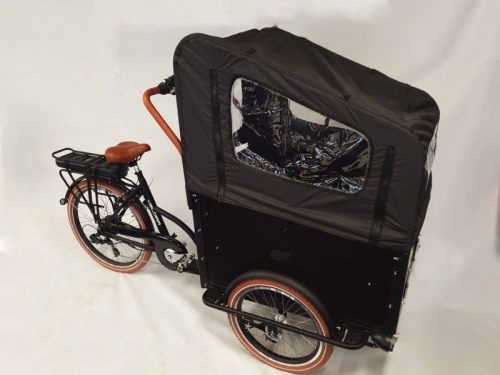 Velora bakfiets E-Bike Bakfiets 24 inch 7-speed black-Brown