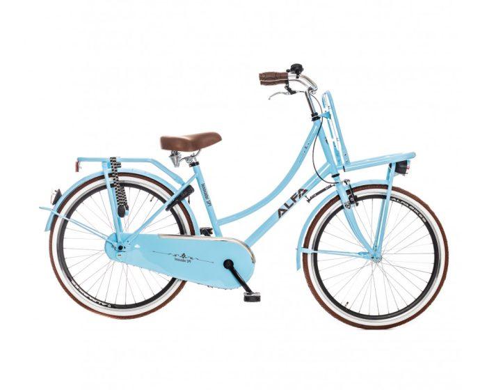Alfa Innovador Transporter Meisjesfiets 26 inch licht blauw