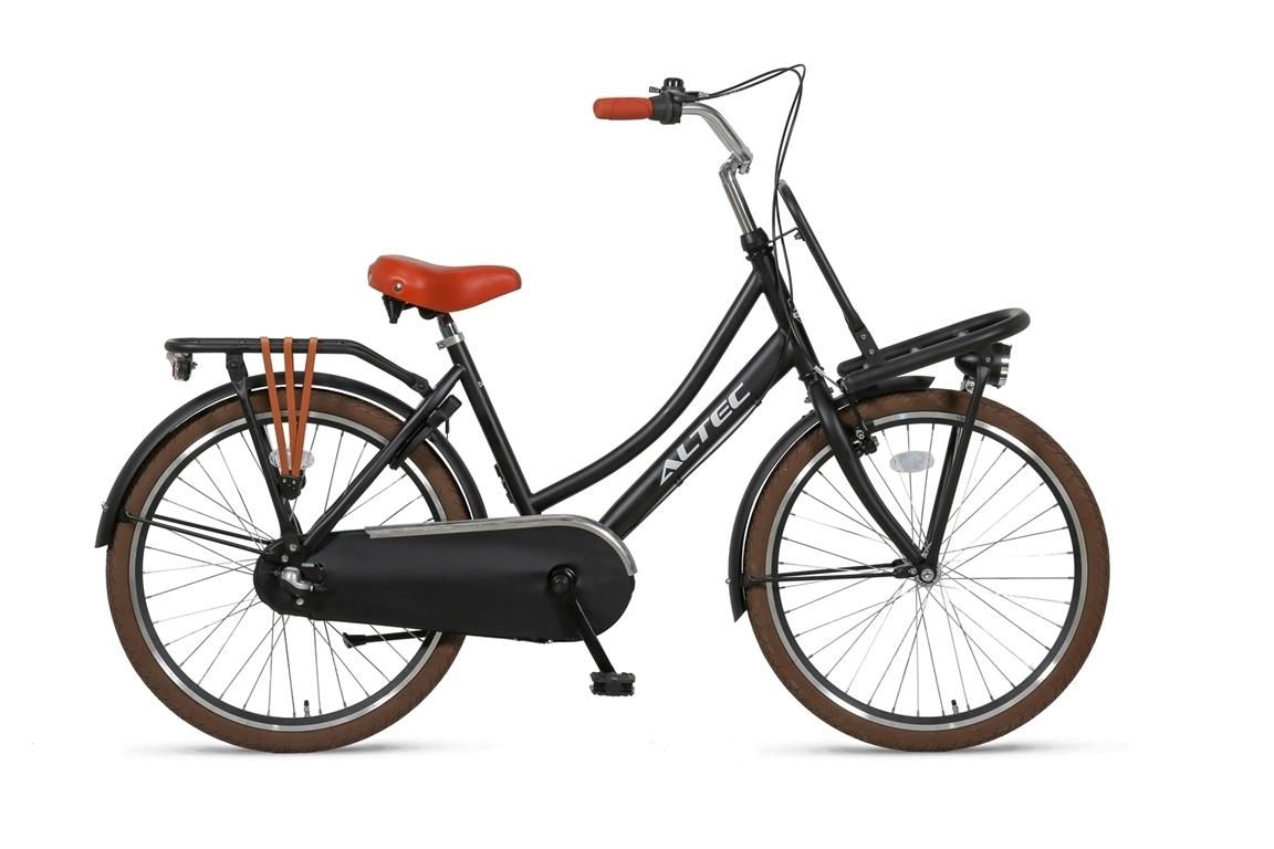 Altec-Dutch-meisjesfiets-24inch-Transportfiets-N3-Zwart-Nieuw