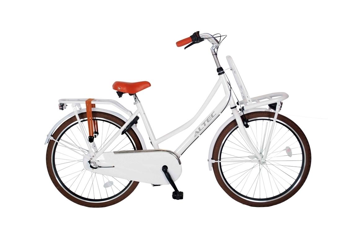 Altec-Dutch-meisjesfiets-26inch-Transportfiets-N3-Snow-White