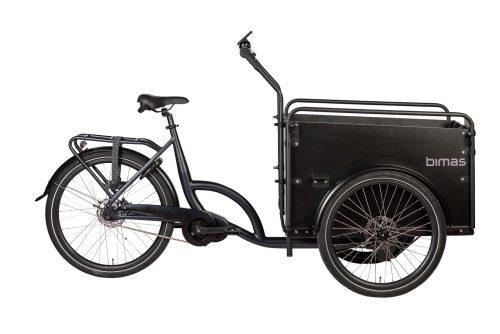 Bimas E-Cargo 3.3 elektrische bakfiets zwart middenmotor bafang zwart
