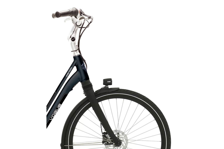 Vogue Zenda Middenmotor Black framemaat 51cm Aluminium Elektrische fiets voorwiel detail